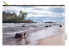 Carry-all Pouch featuring the photograph Little Presque Isle by Phil Perkins