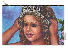 Carry-all Pouch featuring the painting Little Princess by Alga Washington