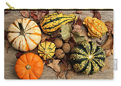 Carry-all Pouch featuring the photograph Little Pumpkins Fall Decor by Sheila Brown