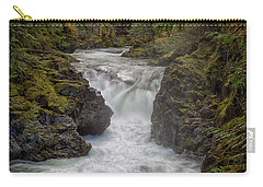 Carry-all Pouch featuring the photograph Little Qualicum Lower Falls by Randy Hall