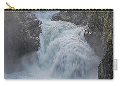 Carry-all Pouch featuring the photograph Little Qualicum Upper Falls by Randy Hall