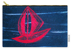 Carry-all Pouch featuring the painting Little Red Boat  by Jacqueline McReynolds