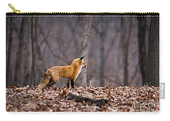 Carry-all Pouch featuring the photograph Little Red Fox by Andrea Silies