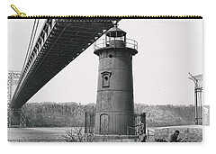 Carry-all Pouch featuring the photograph Little Red Lighthouse, 1961 by Cole Thompson