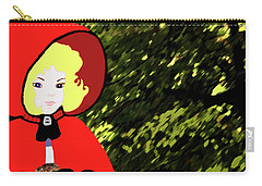 Little Red Riding Hood In The Forest Carry-all Pouch
