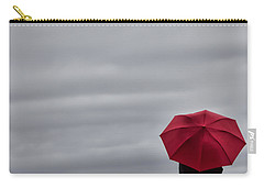 Little Red Umbrella In A Big Universe Carry-all Pouch by Don Schwartz