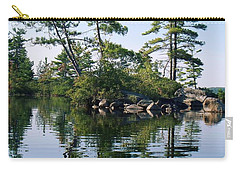 Carry-all Pouch featuring the photograph Little Rocky Pine Tree Island On Parker Pond by Joy Nichols