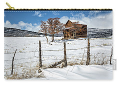Little Shack In Winter Carry-all Pouch