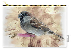 Carry-all Pouch featuring the digital art Little Sparrow by Mary Timman