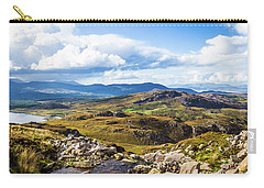 Carry-all Pouch featuring the photograph Little Stream Running Down The Macgillycuddy's Reeks by Semmick Photo