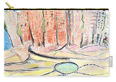 Little Town By The River Carry-all Pouch by Evelina Popilian