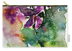 Carry-all Pouch featuring the painting Little Violet by Kovacs Anna Brigitta