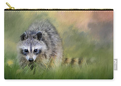 Little Wash Bear Raccoon Art Carry-all Pouch by Jai Johnson