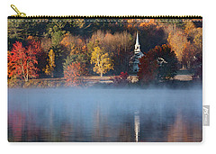 Carry-all Pouch featuring the photograph Little White Church On Crystal Lake by Jeff Folger