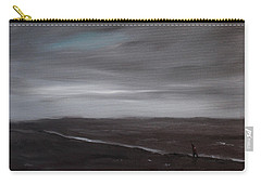 Little Woman In Large Landscape Carry-all Pouch by Tone Aanderaa