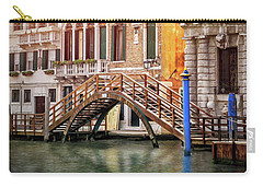 Little Wooden Footbridge In Venice Italy  Carry-all Pouch