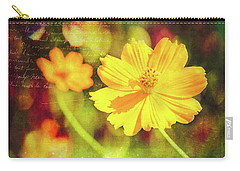 Carry-all Pouch featuring the photograph Little Yellow Flowers by Anna Louise