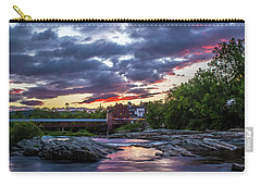Littleton Sunset On The Rocks Carry-all Pouch