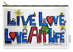 Live Love, Love All Life Carry-all Pouch