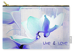Carry-all Pouch featuring the photograph Live N Love - Absf43 by Variance Collections