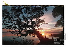 Carry-all Pouch featuring the photograph Live Oak Sunrise by Benanne Stiens