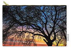 Live Oak Under A Rainbow Sky Carry-all Pouch