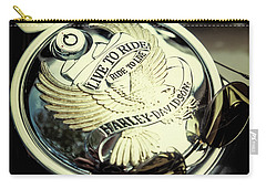 Carry-all Pouch featuring the photograph Live To Ride by Samuel M Purvis III