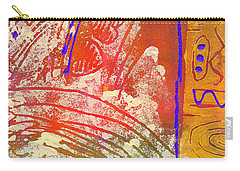 Carry-all Pouch featuring the painting Live Your Life by Angela L Walker