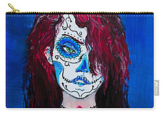 Carry-all Pouch featuring the painting Living Dead Girl by Reed Novotny