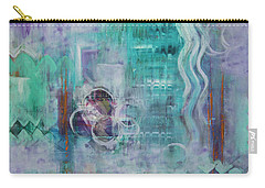Carry-all Pouch featuring the painting Living In The Mystery by Jocelyn Friis