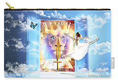 Carry-all Pouch featuring the digital art Living Word Of God by Dolores Develde