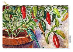 Carry-all Pouch featuring the painting Lizard In Hot Sauce by Marilyn Smith