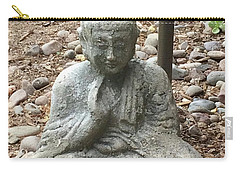Carry-all Pouch featuring the painting Lizard Zen by Kim Nelson