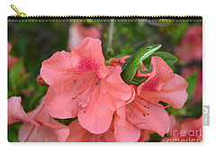 Carry-all Pouch featuring the photograph Lizzy On A Rainy Day by Donna Bentley