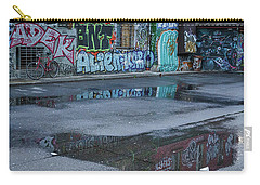 Carry-all Pouch featuring the photograph Ljubljana Graffiti Reflections #2 - Slovenia by Stuart Litoff