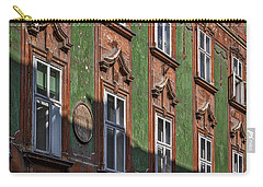 Carry-all Pouch featuring the photograph Ljubljana Windows #2 - Slovenia by Stuart Litoff