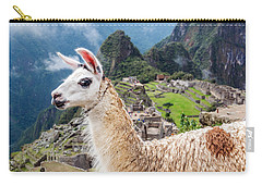 Llama At Machu Picchu Carry-all Pouch by Jess Kraft