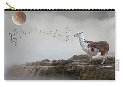 Llama Singing To The Moon Carry-all Pouch