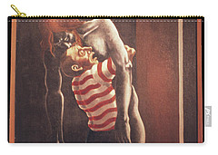Carry-all Pouch featuring the painting Llego' Con Tres Heridas by William Hart McNichols