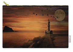 Llight House By Moonlight Carry-all Pouch