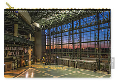 Carry-all Pouch featuring the photograph Lambeau Field Atrium Sunset by Joel Witmeyer