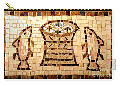 Loaves And Fishes Mosaic Carry-all Pouch by Lou Ann Bagnall