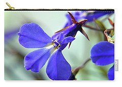 Lobelia Erinus Carry-all Pouch by Terence Davis