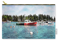 Carry-all Pouch featuring the digital art Lobster By Night - Sleep By Day - Camden Maine by Joseph Hendrix