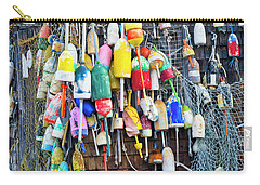 Lobster Buoys And Nets - Maine Carry-all Pouch