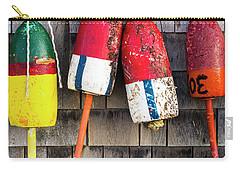 Lobster Buoys On Shingle Wall - Cape Neddick -  Maine Carry-all Pouch