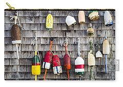 Lobster Buoys On Wall, York, Maine Carry-all Pouch