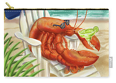 Lobster Drinking A Margarita Carry-all Pouch