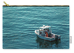 Lobsterman In Maine Carry-all Pouch by Diane Diederich