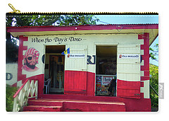 Carry-all Pouch featuring the photograph Local Rum Shop, Barbados by Kurt Van Wagner
